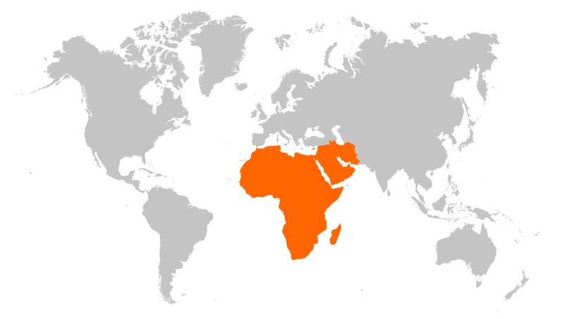 Marchés émergents en forte croissance au Moyen Orient et en Afrique
